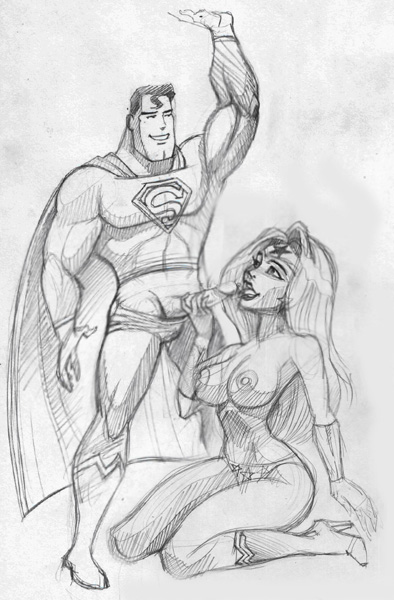 superman young justice superboy and Lara croft and horse hentai